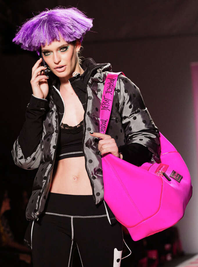 Purse or gym bag? The Betsey Johnson Fall 2013 collection.  Photo: John Minchillo, AP/Getty / FR170537 AP