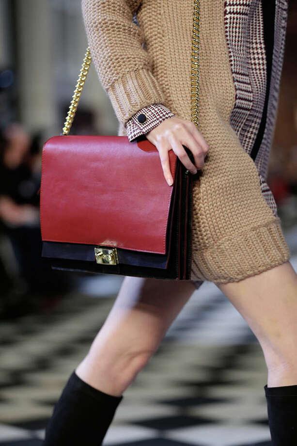 Large satchel purse. The Tommy Hilfiger Fall 2013. Photo: Seth Wenig, AP/Getty / AP