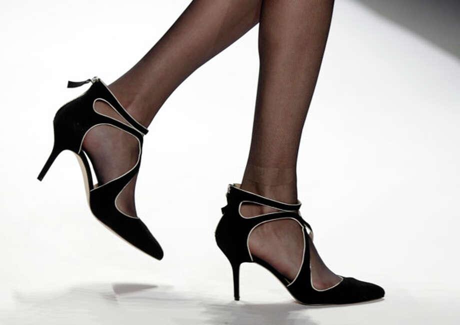 Strappy heels. The Tadashi Shoji Fall 2013. Photo: Richard Drew, AP/Getty / AP