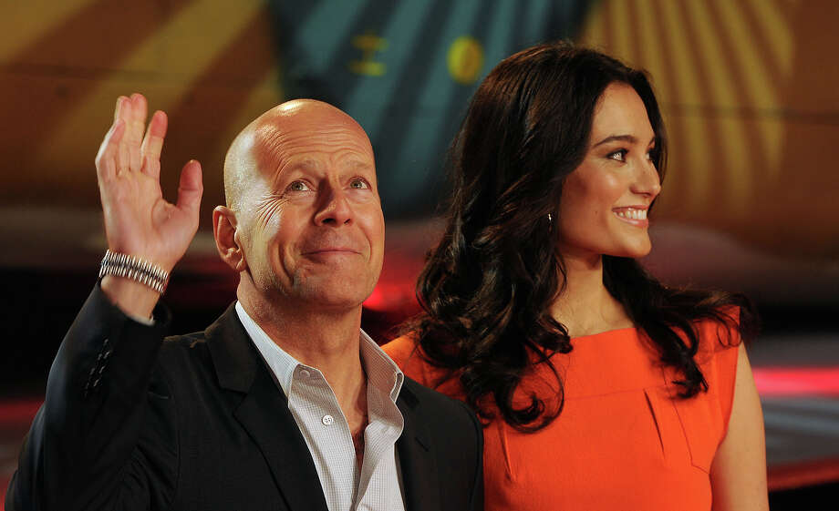 "LONDON, UNITED KINGDOM - FEBRUARY 07: Bruce Willis and wife Emma Heming attend the UK premiere of ""A Good Day To Die Hard"" at Empire Leicester Square on February 7, 2013 in London, England. Photo: Eamonn McCormack, WireImage / 2013 Eamonn McCormack"