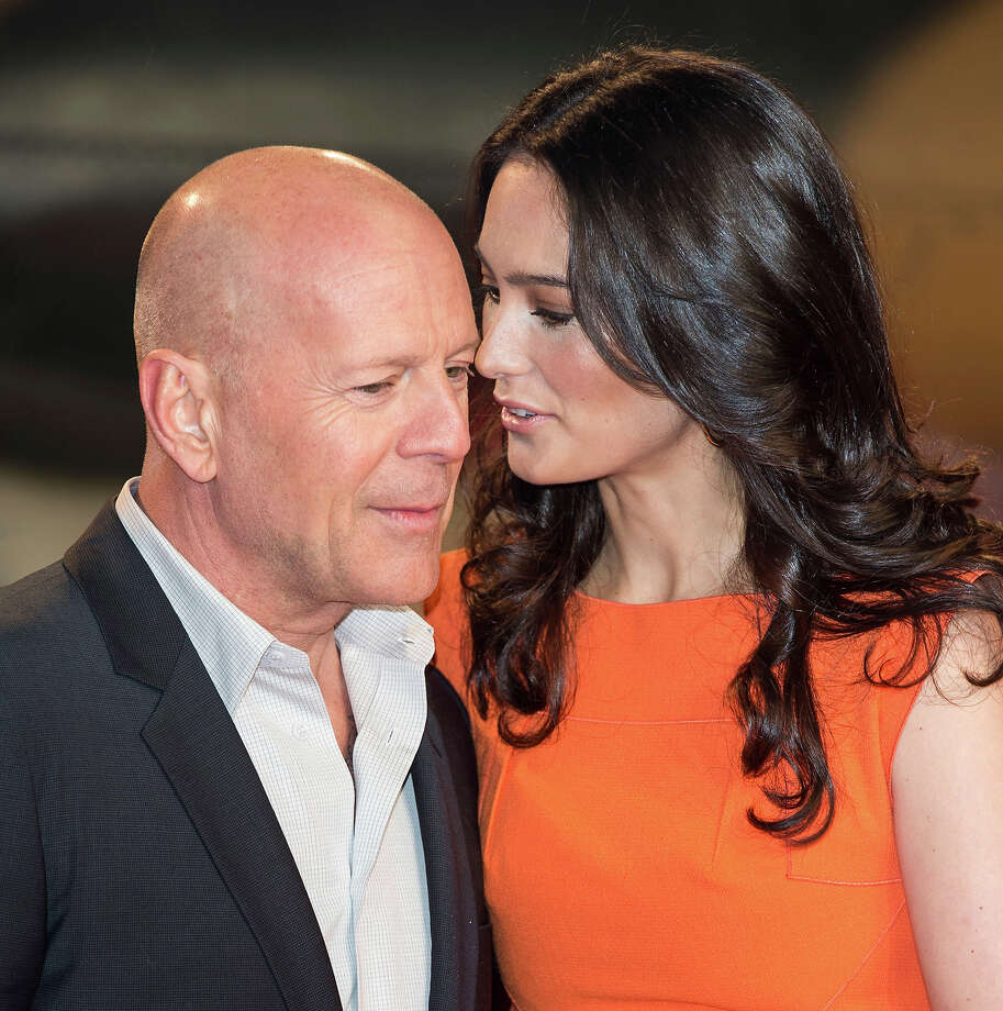 LONDON, ENGLAND - FEBRUARY 07:  Bruce Willis and Emma Heming attend the UK Premiere of 'A Good Day To Die Hard' at Empire Leicester Square on February 7, 2013 in London, England. Photo: Mark Cuthbert, UK Press Via Getty Images / 2013 Mark Cuthbert