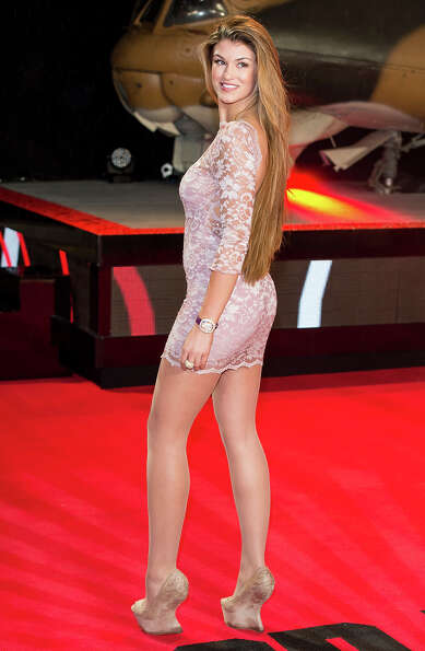 LONDON, ENGLAND - FEBRUARY 07:  Amy Willerton attends the UK Premiere of 'A Good Day To Die Hard' at