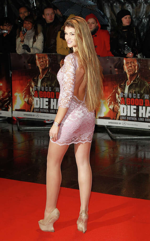 LONDON, UNITED KINGDOM - FEBRUARY 07: Amy Willerton attends the UK Film premiere for 'A Good Day To Die Hard' at The Empire Cinema on February 7, 2013 in London, England. Photo: Fred Duval, FilmMagic / 2013 Fred Duval