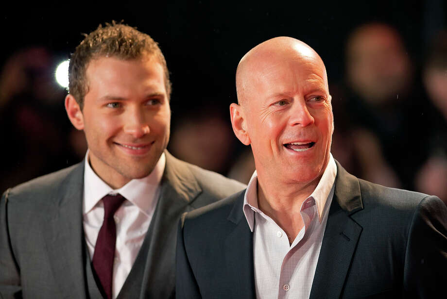 LONDON, UNITED KINGDOM - FEBRUARY 07: (EMBARGOED FOR PUBLICATION IN UK NEWSPAPERS UNTIL 48 HOURS AFTER CREATE DATE AND TIME) Jai Courtney and Bruce Willis attend the UK Premiere of 'A Good Day To Die Hard' at Empire Leicester Square on February 7, 2013 in London, England. Photo: Indigo, Getty Images / 2013 Indigo