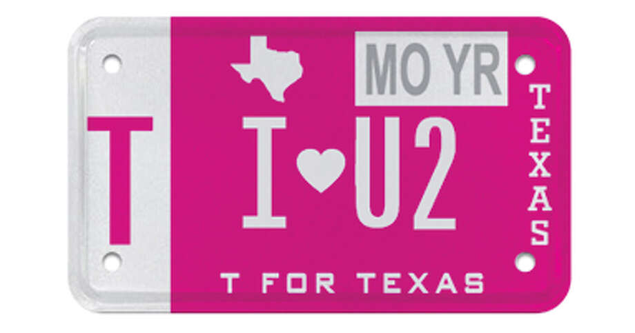 More than 6,100 people have put hearts on their official Texas license plates since the heart was first offered in 2010, according to MyPlates.com. Photo: MyPlates.com