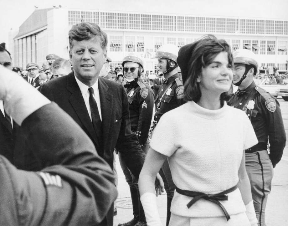 After spending a little over two hours in San Antonio, President Kennedy and the first lady boarded a plane at Kelly Air Force Base for Houston. Next stop: Fort Worth and Dallas. Photo: Courtesy Arcadia Publishing