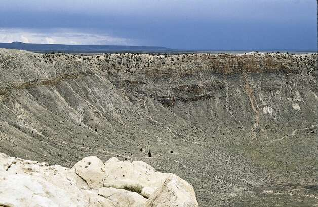 Rim of the Barringer Meteor Crater near Winslow, Arizona. (Photo by Independent Picture Service/UIG via Getty Images)