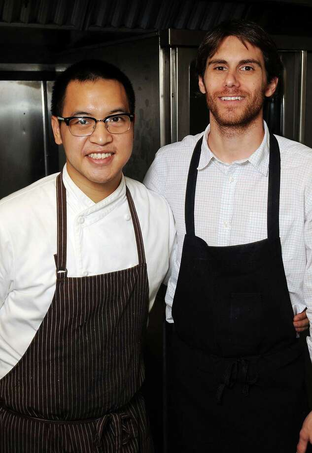 Chefs Justin Yu, left, and Paul Petronella Photo: Dave Rossman, Freelance / © 2013 Dave Rossman