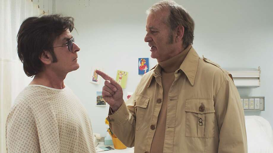 "Charlie Sheen (left) and Bill Murray star in ""Charles Swan,"" but the movie isn't worth more than a glance. Photo: A24"
