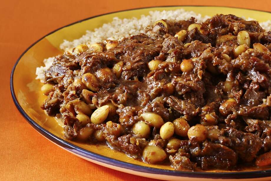 Lamb Tagine With Dates & Almonds; styling by Simon F.F. Young Photo: Craig Lee, Special To The Chronicle