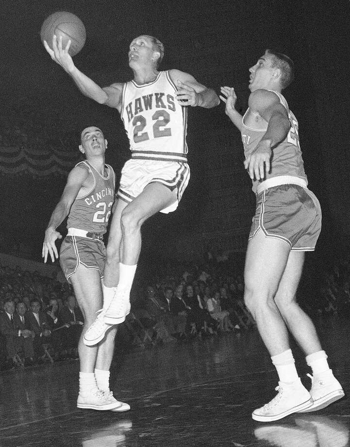 Slater Martin, Guard, Davis HSYears: 1949-60Teams: Minneapolis Lakers, New York, St. LouisGames: 745Notable: Inducted in Hall-of-Fame in 1982. Seven-time All-Star. Won five NBA titles (four in Minneapolis, one in St. Louis) Photo: Associated Press / AP
