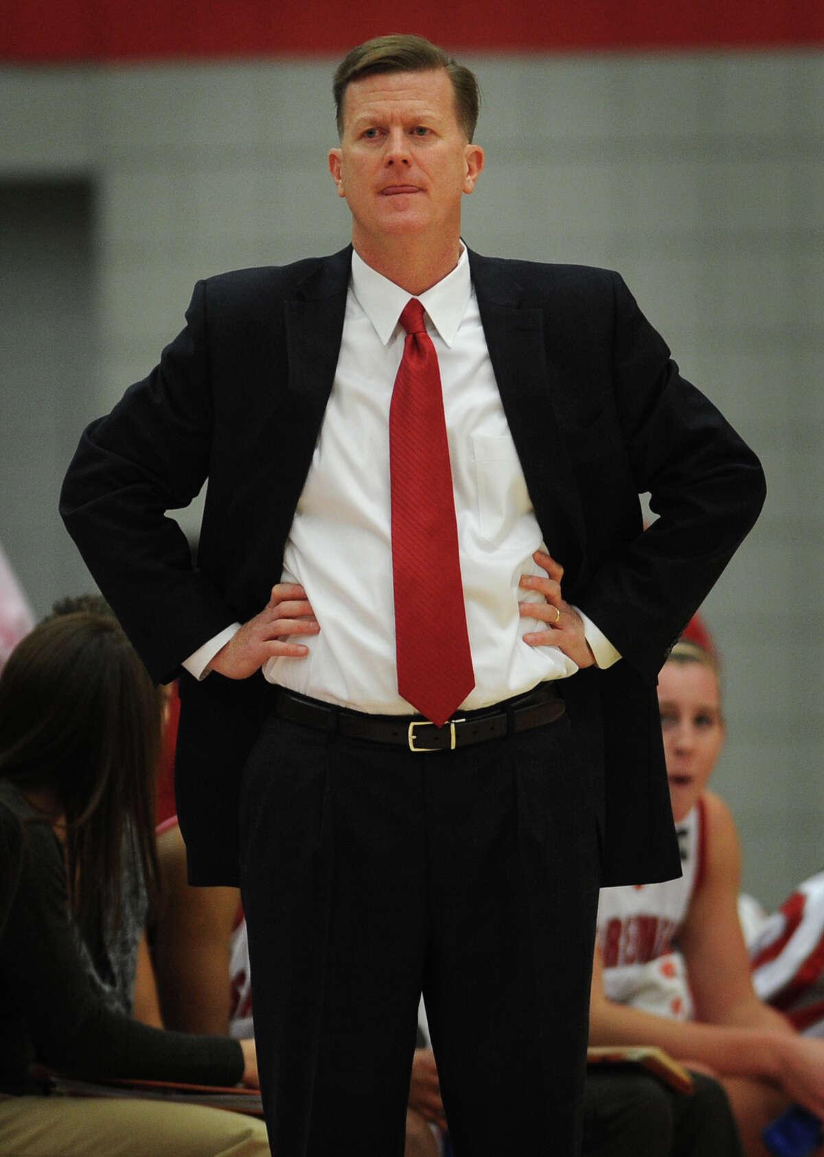 Sacred Heart women's basketball coach Ed Swanson.