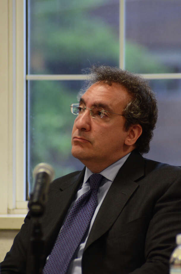 Gregory Bedrosian, member of the Board of Estimate and Taxation, at Greenwich Town Hall on May 21, 2012. Photo: Amy Mortensen / Greenwich Time Freelance