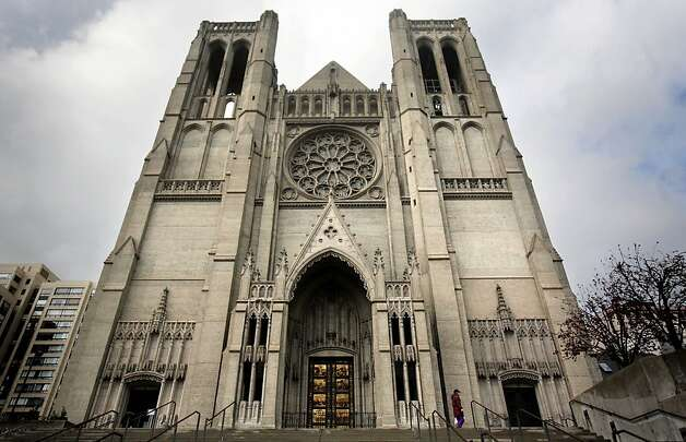 Grace Cathedral, on Nob Hill, is one of the 15 featured destinations on the Perfect San Francisco Date tour. The app asks couples a trivia question at each spot. Photo: Mark Costantini, The Chronicle
