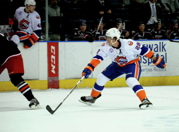 Sound Tigers #29 Brock Nelson, during hockey action against Springfield at the Webster Bank Arena in Bridgeport, Conn. on Tuesday February 12, 2013. Photo: Christian Abraham / Connecticut Post
