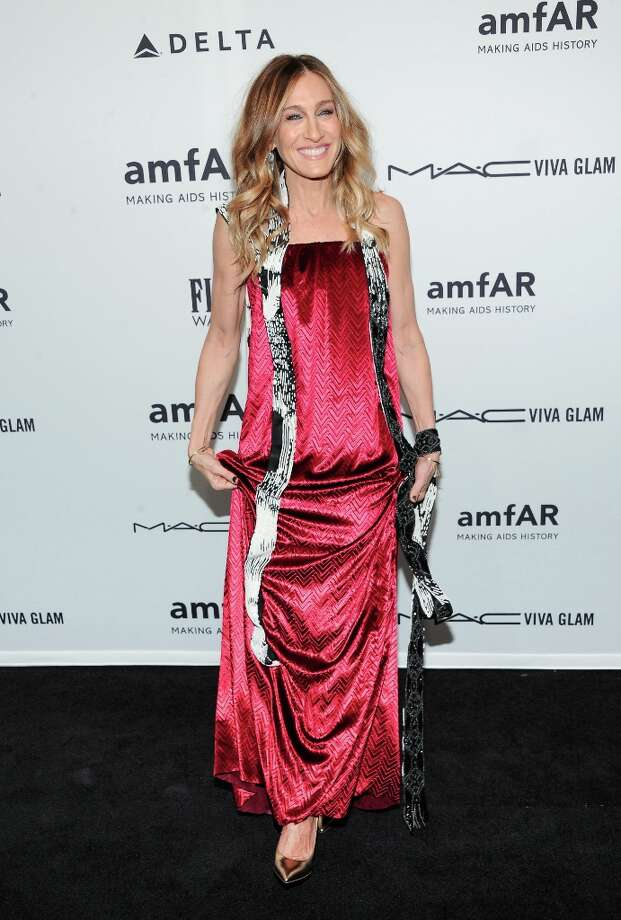 Actress Sarah Jessica Parker attends amfAR's New York gala at Cipriani Wall Street on Wednesday, Feb. 6, 2013 in New York. (Photo by Evan Agostini/Invision/AP) Photo: Evan Agostini, Associated Press / Invision