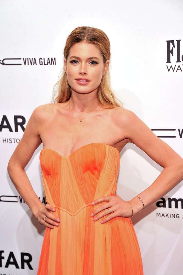 Model/Actress Doutzen Kroes attends the amfAR New York Gala to kick off Fall 2013 Fashion Week at Cipriani Wall Street on February 6, 2013 in New York City.  (Photo by Stephen Lovekin/Getty Images for Mercedes-Benz Fashion Week) Photo: Stephen Lovekin, (Credit Too Long, See Caption) / 2013 Getty Images