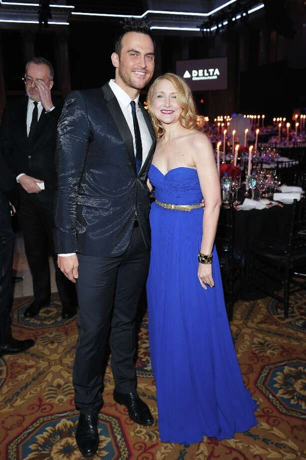 Cheyenne Jackson (L) and Patricia Clarkson attend the amfAR New York Gala to kick off Fall 2013 Fashion Week at Cipriani Wall Street on February 6, 2013 in New York City.  (Photo by Michael Loccisano/Getty Images for Mercedes-Benz Fashion Week) Photo: Michael Loccisano, (Credit Too Long, See Caption) / 2013 Getty Images