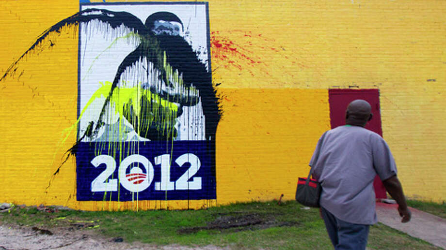 The mural after the most recent defacement.
