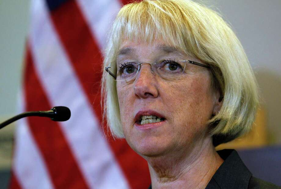 FILE - In this Aug. 10, 2011, file photoSen. Patty Murray answers a question during a news conference following a visit to the headquarters of Amazon.com in Seattle. When Rep. Jeb Hensarling and Murray on Thursday, Sept. 8, 2011, gavel into session a super panel burdened by the nation?s fiscal future, they?ll be leading wonky discussions about spending cuts and tax policy and trying to get a majority of their 12-member panel to sign on. But their conduct, and their work product, also will begin answering a fundamental question: Can these ambassadors from the left and right, stripped of their independence and saddled with all manner of carrots and sticks, govern? (AP Photo/Elaine Thompson, File) Photo: Elaine Thompson, STF / AP