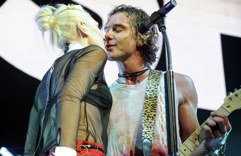 Gwen Stefani and Gavin Rossdale met while her band No Doubt was opening for his band Bush in 1995. The couple married in 2002 and went on to have two sons, Kingston and Zuma. Here they are performing at the 2012 KROQ Acoustic Xmas show. Photo: Jeff Kravitz, FilmMagic / 2012 Jeff Kravitz