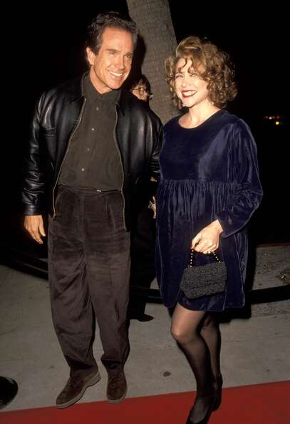 Warren Beatty and Annette Bening at the Bugsy premiere in 1991.