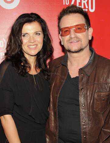 U2 frontman Bono and his activist/Edun co-founder wife Alison Hewson were married in 1982 and have four kids together. Photo: Gary Gershoff / 2012 Getty Images