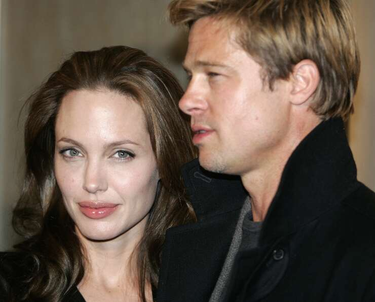 Angelina Jolie and Brad Pitt in January 2007.