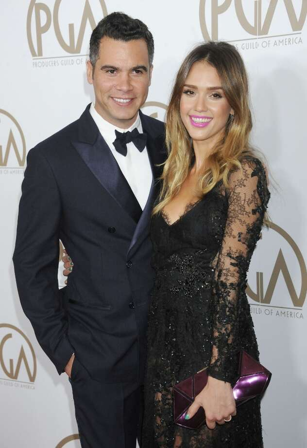 Actress Jessica Alba, 31, and Cash Warren began dating while filming The Fantastic Four in 2004. The couple wed in 2008 and are parents to two daughters, Honor and Haven. Photo: Gregg DeGuire, WireImage / 2013 Gregg DeGuire