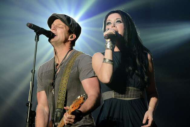 Thompson Square — husband and wife Keifer and Shawna Thompson — are the Valentine's Day performers after the rodeo. Photo: Getty Images File Photo