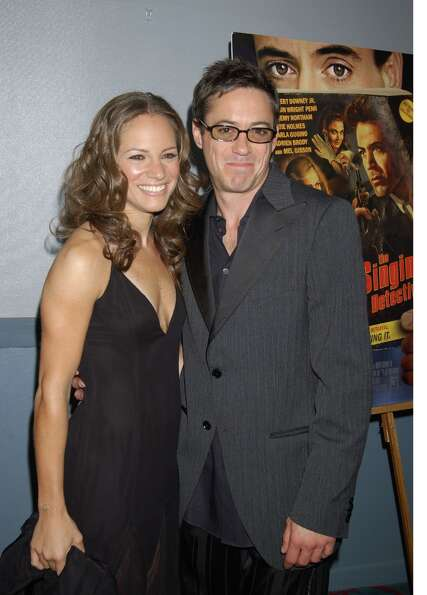 Susan Levin and Robert Downey Jr. in 2003.