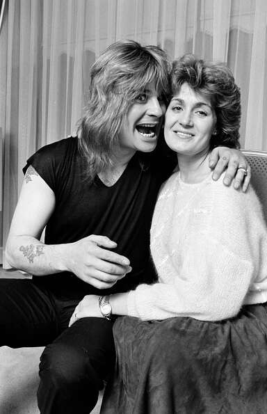 Ozzy Osbourne and Sharon Osbourne in 1982.