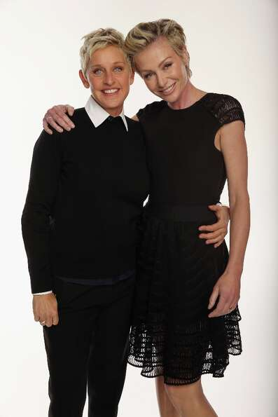 Talk show host Ellen DeGeneres and actress Portia de Rossi began dating in 2004 and wed in 2008.