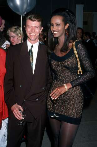 Iman and David Bowie in 1990. Photo: Ron Galella, WireImage / Ron Galella Collection