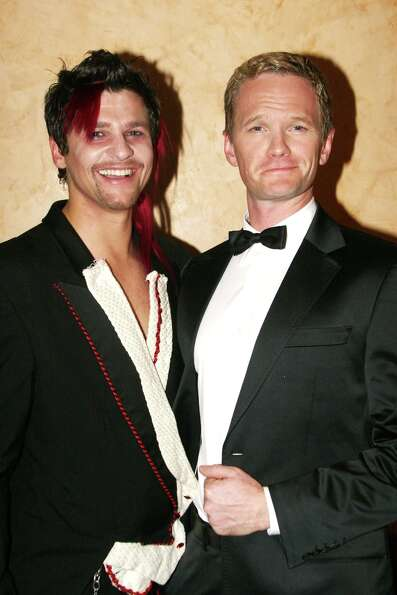 David Burtka and Neil Patrick Harris in 2007 at The Rocky Horror Tribute Show on Broadway.