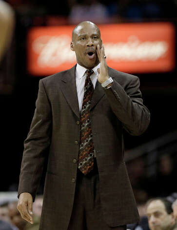 Cleveland Cavaliers coach Byron Scott calls out during the fourth quarter of the Cavaliers' NBA basketball game against the San Antonio Spurs on Wednesday, Feb. 13, 2013, in Cleveland. San Antonio won 96-95. Photo: Tony Dejak, Associated Press / AP