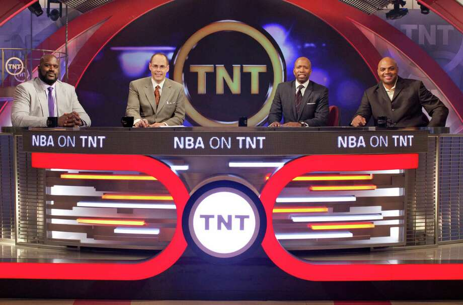 "The ""Inside the NBA"" team of, from left, Shaquille O'Neal, Ernie Johnson, Kenny Smith and Charles Barkley brings its successful studio show to Houston for NBA All-Star Weekend. It's a good bet Smith and Barkley will recall their Rockets days at some point. Photo: Turner Sports"