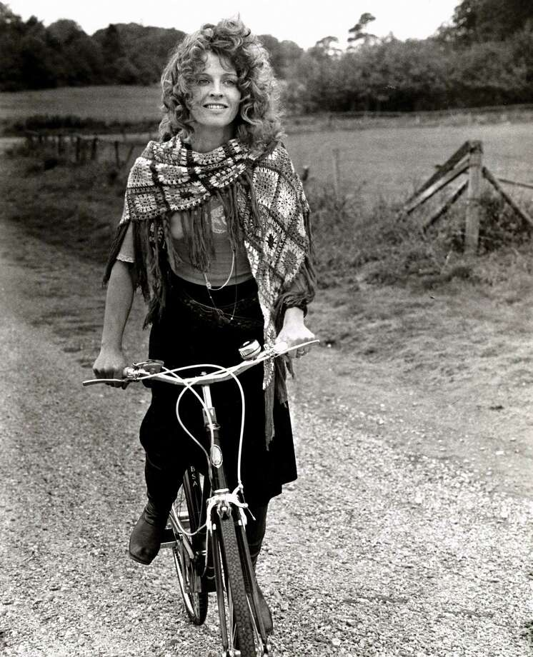 Julie Christie (depicted here in Steven Rea's Hollywood Rides a Bike) in DON'T LOOK NOW. Photo: Columbia Pictures/Photofest / © Columbia Pictures