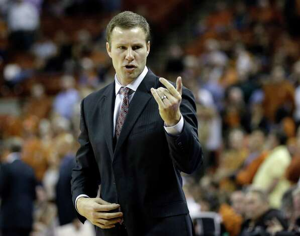 Iowa State coach Fred Hoiberg signals to his players during the second half of an NCAA college basketball game against Texas, Wednesday, Feb. 13, 2013, in Austin, Texas. Texas won 89-86 in double overtime.  (AP Photo/Eric Gay) Photo: Eric Gay, Associated Press / AP