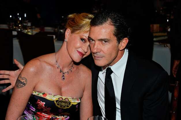 Melanie Griffith and Antonio Banderas began dating in 1995 when both were married, while they were filming Two Much. They married in spring of 1996; their daughter Stella was born in the fall of that year. Photo: Frazer Harrison / 2012 Getty Images