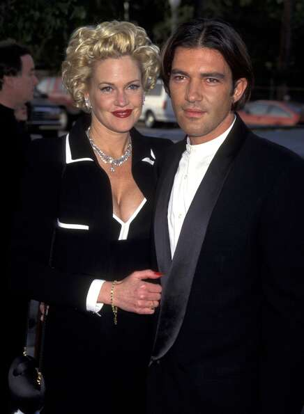 Melanie Griffith and Antonio Banderas in June 1995.