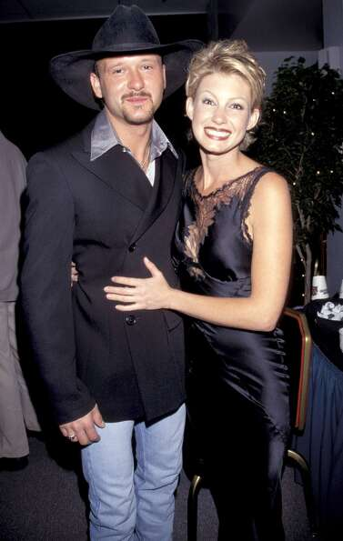 Faith Hill and Tim McGraw, a month before their wedding in 1996.