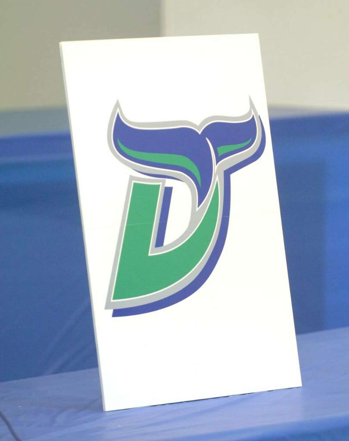 Logos presented at a press confrence for the Danbury Whalers at the Danbury Ice Arena Tuesday, Dec. 29, 2009.