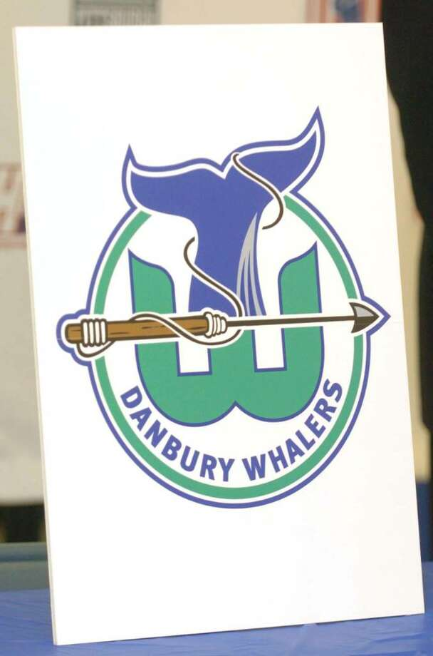 Logos presented at a press confrence for the Danbury Whalers at the Danbury Ice Arena Tuesday, Dec. 29, 2009. Photo: Chris Ware / The News-Times