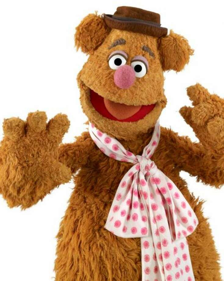 Here's Fozzie Bear. His fuzzy, mussed-up look just screams crazy.
