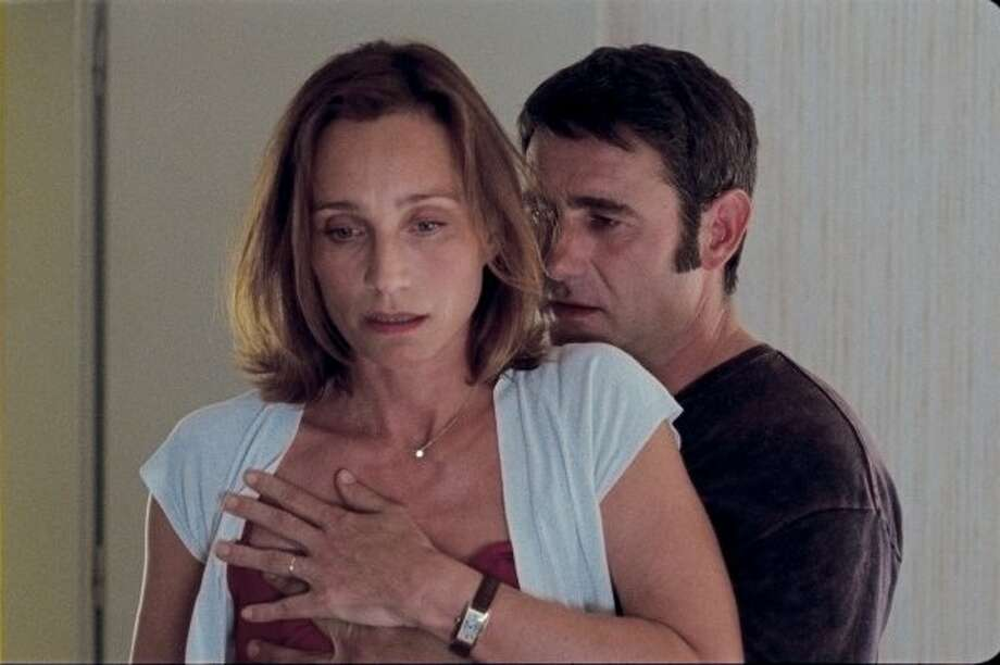 Kristin Scott Thomas and Sergy Lopez in Leaving.