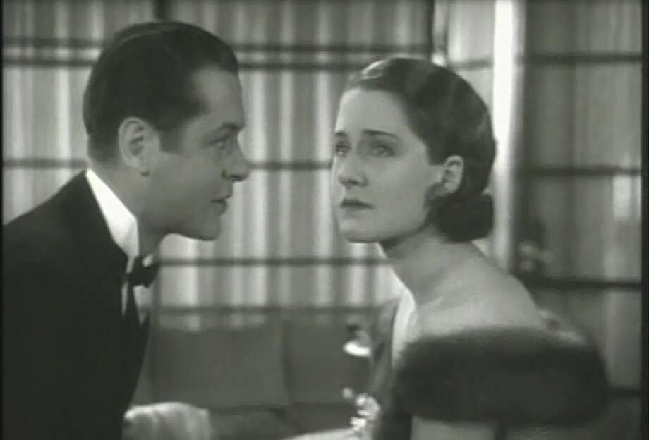 Private Lives -- right before the big kiss.  With Robert Montgomery and Norma Shearer, this is a movie about the sexiness of familiarity, a rare topic in movies.  He is telling her that there is not a single particle of her that he doesn't know, remember and want.