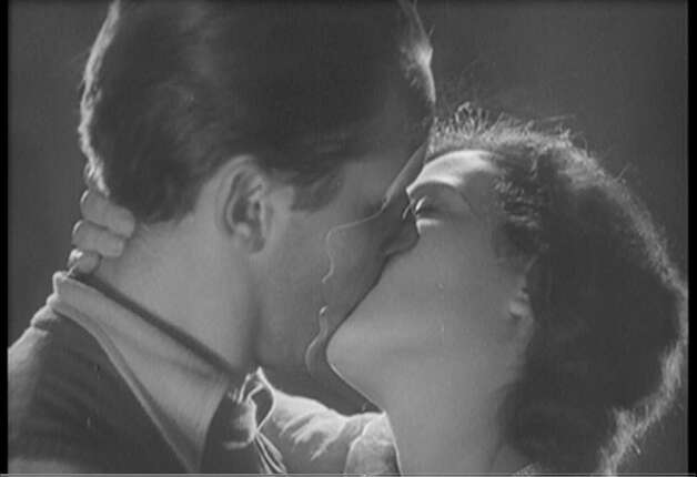 The classic kiss from Ecstasy (1933) -- note how Hedy Lamarr's face is moving into his. Photo: HO, REUTERS / X80001