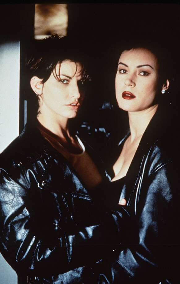 Bound -- memorable for the lesbian love scene between Jennifer Tilley and Gina Gershon. Photo: HO