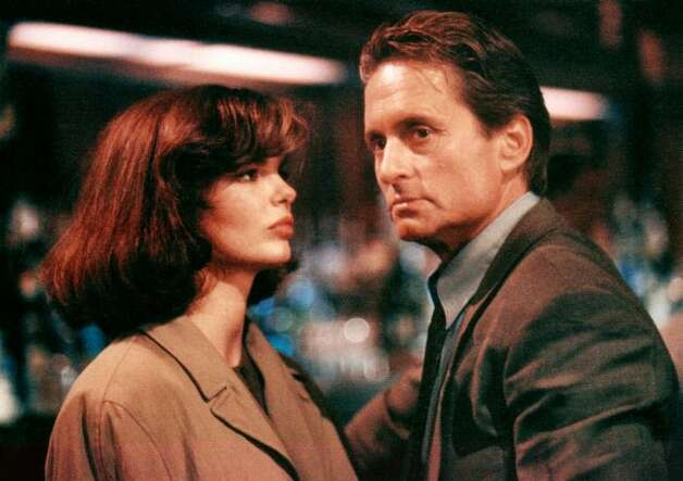BASIC INSTINCT, Jean Tripplehorn, and Michael Douglas.